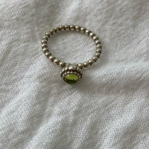 Pandora Birthstone Ring Green for July Sz 58
